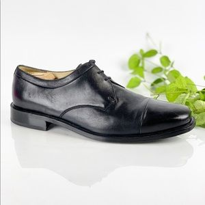 Florsheim Matera Men Black Leather Oxfords Cap Toe